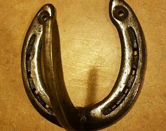 Horseshoe wall hanger