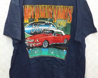 Vintage hot august night ford car tshirt racer(A1)