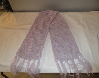 lavender crochet scraf