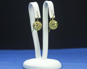 Yellow Gold Earrings Pierced