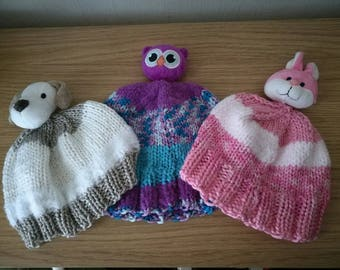 Baby / child knitted character hats