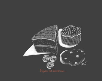 Vegans eat dessert too