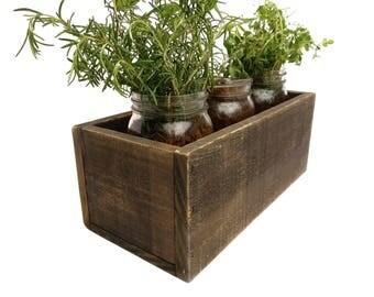 Wood planter box | Etsy