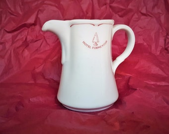 Hotel Ware Pitcher from Grace Kelly Honeymoon Destination The Hotel Formentor Mallorca Spain Made in Bavaria Porcelain