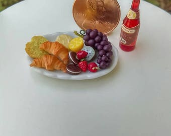 Dollhouse MiniatureOne Inch Scale 1:12 Fruit  Platter by CSpykersMiniatures