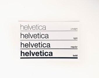 Helvetica Typeface Sticker