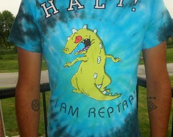 Rugrats Reptar tie died t-shirt