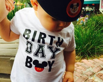 Mickey Mouse birthday boy shirt mickey birthday shirt disney birthday shirt