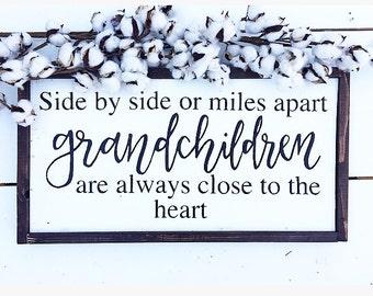 Grandchildren sign, grandparents gift, grandchildren,