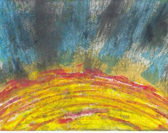 original abstract artwork sun flames red giant star