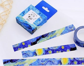 Beautiful Van Gogh Inspired Starry Sky Washi Tape