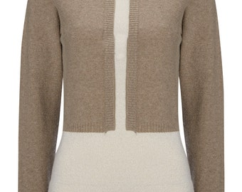 Brown contrast polo neck jumper