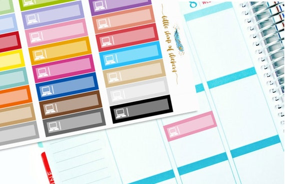 Laptop Labels || Planner Stickers, Laptop Stickers, Planner Decor, Decorating Stickers, Functional Stickers, Laptop Label Stickers