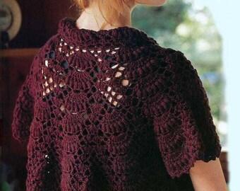 Ladies jacket in burgundy color,crochet / custom