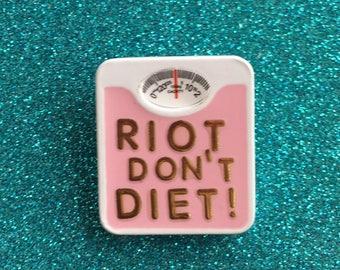 Riot Grrrl Pin