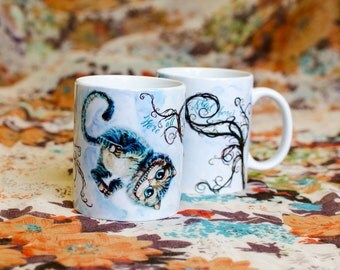 Mug with a picture Cheshire Cat / Kitten / Alice Through the Looking Glass (2016)