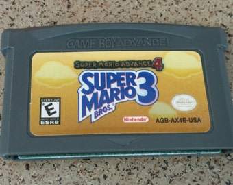 Super Mario Bros. 3 Super Mario Advance 4 Gameboy Advance GBA DS Nintendo NES Classic Game