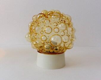 Vintage Retro Amber Glass Glashütte Limburg - Helena Tynell - Bubble Glass - Ceiling Lamp Sixties