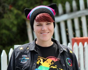 Pussy Hat - Bisexual Pride - LGBTQ - Gay Pride - Women's March - Activist