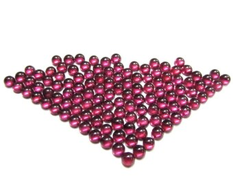 25 pcs Lot 4mm RHODOLITE GARNET Round Cabochon Smooth polished gemstone