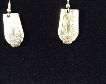 Silverware tip earrings
