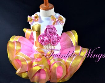 Baby Girls 1st 2nd 3rd 4th 5th Birthday 3D cupcake Outfit Dress Personalized Outfit Ribbon Tutu  Size 12M 24M 2T 3T 4T 5T 6T
