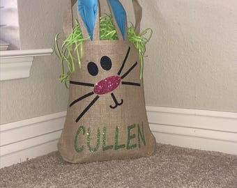 Personalized Bunny Ear Easter Bag/Basket
