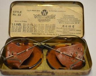 Willson Goggles Style Z2 with Tin and Patent Info