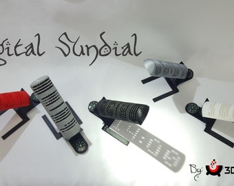 3D Printed Digital Sundial by 3D Cauldron