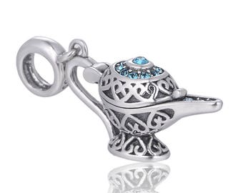 Aladdin Magic Genie Lamp Wunderlampe Pendant Charm|925 Sterling Silver - Gift Packed