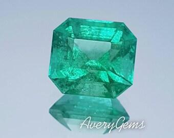 Emerald 3.7 Ct Natural Loose Gemstone Ror Emerald Engagement Ring Precious Gemstone Precision Cut By AveryGems