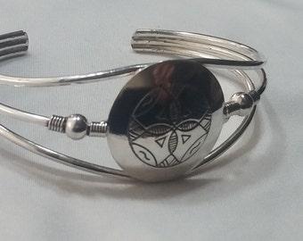 Pulsera labrada a mano en PLata 925/ Hnadmade Silver 925 bracelet