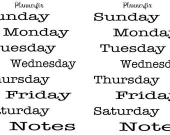 Days Of The Week (Typewriter)