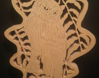 Forest leaf with owl