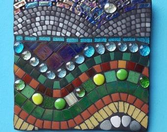 Mosaic Abstract landscape wall art