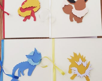 Eevee evolution cards set of 4