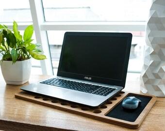 Laptop Lap Desk,Wood laptop stand,notebook stand,wood macbook stand,wooden stand,Laptop holder,Laptop Stand,Student Gift,Laptop Desk,LapDesk