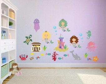 Mermaid Wall Art   Etsy Part 41