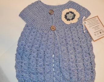 1 - 2 Year Old Girls' Light Blue Cardigan
