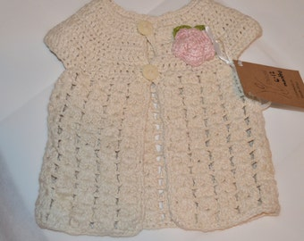 6 - 12 Months Girls' White Cardigan