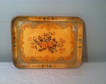 Vintage Paper Mache Tray