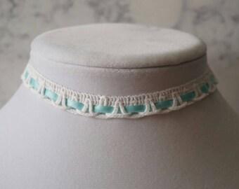 Blue Ballerina Choker Necklace
