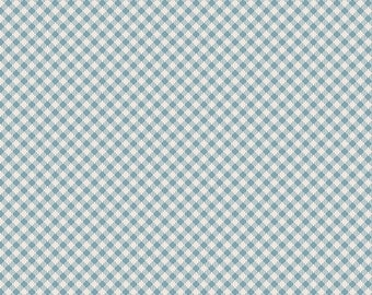 1 yard Les Petits , Petit check Sky 100% quilt shop quality cotton, Art Gallery Fabric. Amy sinibaldi
