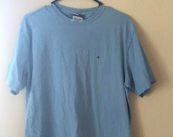 Light blue tommy hilfiger vintage tee