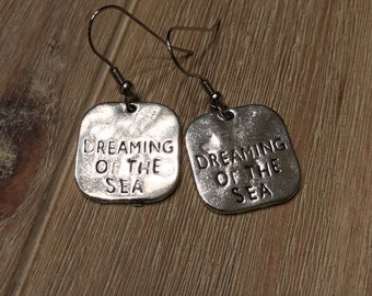 Silver dangle earrings!  Dreaming of the Sea!
