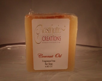 Coconut Oil Bar Soap Fragrance Free