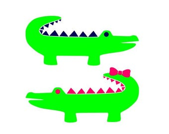 Free Shipping! Alligator  monogram