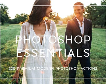 220 Professional Essential Photoshop Actions Professional Photo Editing for Portraits, Newborns, Weddings By LouMarksPhoto