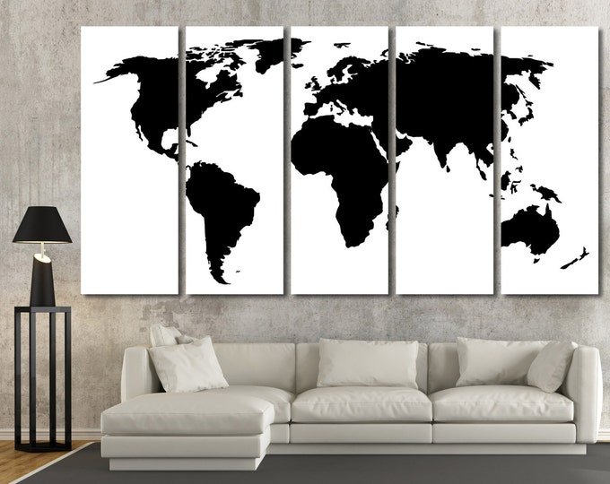 15 off coupon on large black world map wall art modern map of the large black world map wall art modern map of the world wall art framed gumiabroncs Images