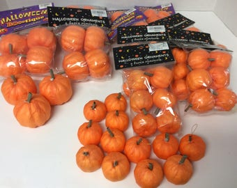 PAPER WRAPPED PUMPKINS/79 Pumpkins/2 Different Sizes/Decorating/Craft Project/Kid's Craft